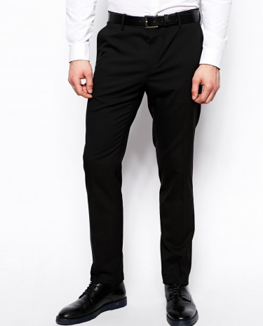 Fashion Shop - ASOS Skinny Fit Suit Pants With Stretch - Black