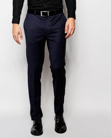 Fashion Shop - ASOS Skinny Fit Tuxedo Pants - Navy