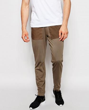 Fashion Shop - ASOS Skinny Joggers In Washed Lightweight - Khaki