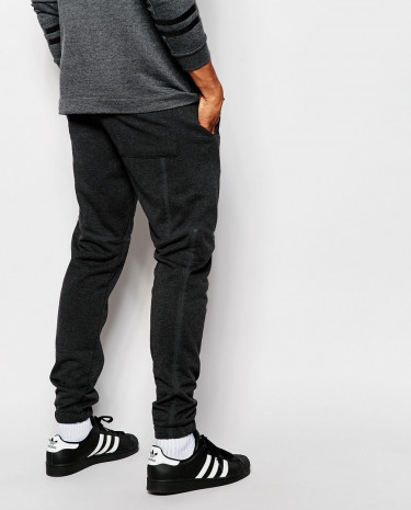 Fashion Shop - ASOS Skinny Joggers With Print Co-Ord - Charcoal