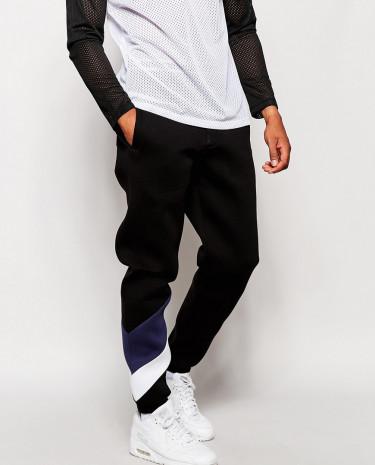 Fashion Shop - ASOS Skinny Joggers With Striped Leg - Blue