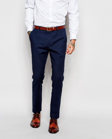Fashion Shop - ASOS Skinny Suit Pants In Navy - Navy
