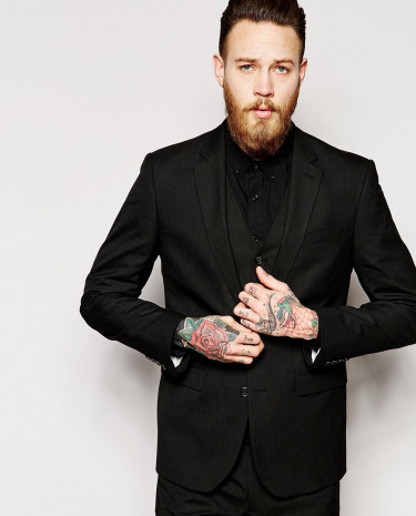 Fashion Shop - ASOS Slim Fit Suit Jacket In Black - Black