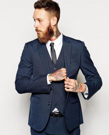 Fashion Shop - ASOS Slim Fit Suit Jacket In Blue - Blue