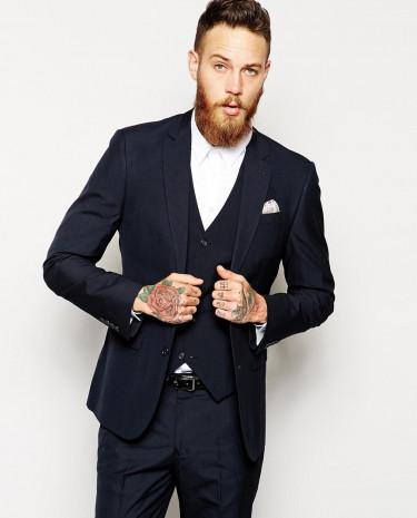 Fashion Shop - ASOS Slim Fit Suit Jacket In Navy - Navy