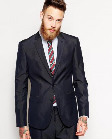 Fashion Shop - ASOS Slim Fit Suit Jacket - Navy
