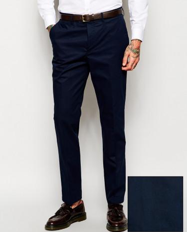Fashion Shop - ASOS Slim Fit Suit Pants In Poplin - Navy