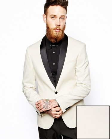 Fashion Shop - ASOS Slim Fit Tuxedo Jacket - White
