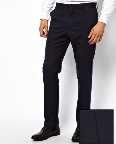 Fashion Shop - ASOS Slim Fit Tuxedo Suit Pants - Navy