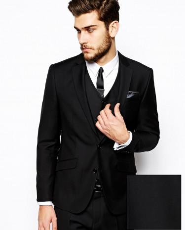 Fashion Shop - ASOS Slim Fit Wool Rich Suit Jacket - Black