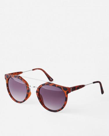 Fashion Shop - ASOS Square Sunglasses With Metal Brow Bar - Brown