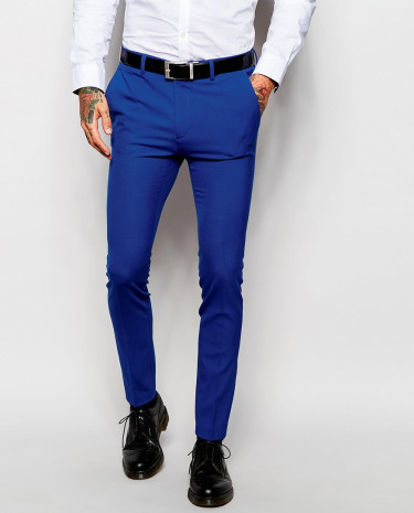 Fashion Shop - ASOS Super Skinny Fit Suit Pants In Blue - Blue