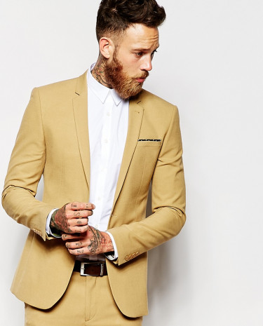 Fashion Shop - ASOS Super Skinny Suit Jacket In Camel - Camel