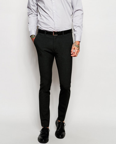 Fashion Shop - ASOS Super Skinny Suit Pants In Charcoal - Charcoal