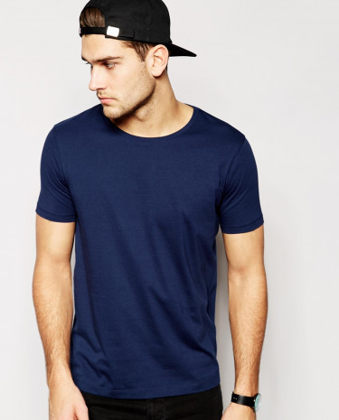 Fashion Shop - ASOS T-Shirt With Crew Neck - Navy