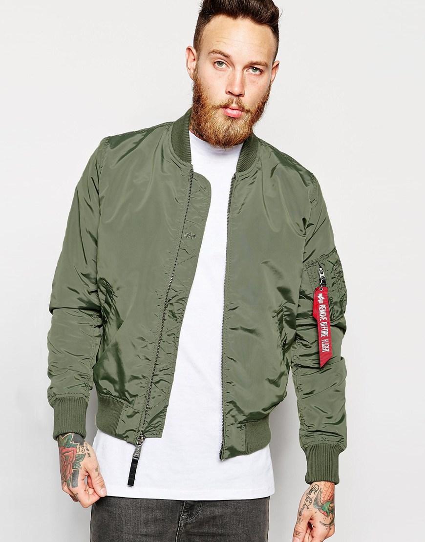 Fashion Shop Alpha Industries MA-1 Bomber Jacket Slim Fit - Green ... 1cdb43874ec5