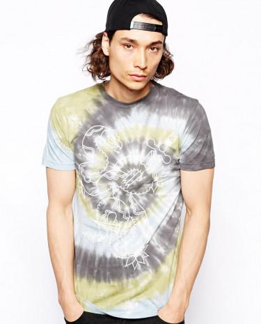 Fashion Shop - Altamont T-Shirt With Snake Breaker Tie Dye - Green