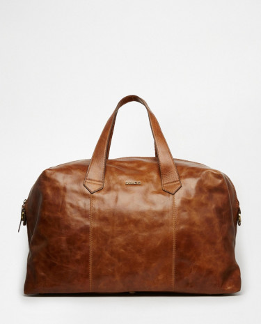 Fashion Shop - Barney's Leather Holdall - Brown