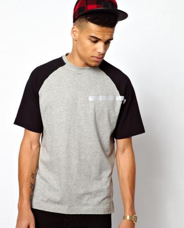 Fashion Shop - Boxfresh 25 Landaux Raglan T-Shirt - Grey