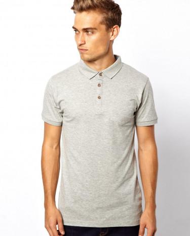 Fashion Shop - Brave Soul Polo Shirt - Grey