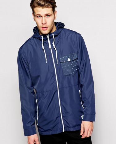 Fashion Shop - CLWR Wind Jacket with Hood Water Repellent - Patriot