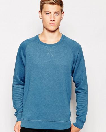 Fashion Shop - Cheap Monday Crew Sweatshirt Neil Basic Melange - Petrolmelange