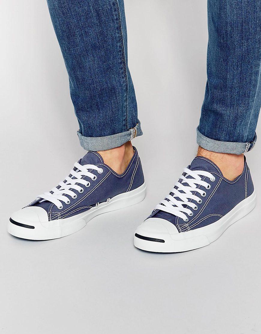 Fashion Shop Converse All Star Jack Purcell Plimsolls - Blue Fashion ... ff13fb825
