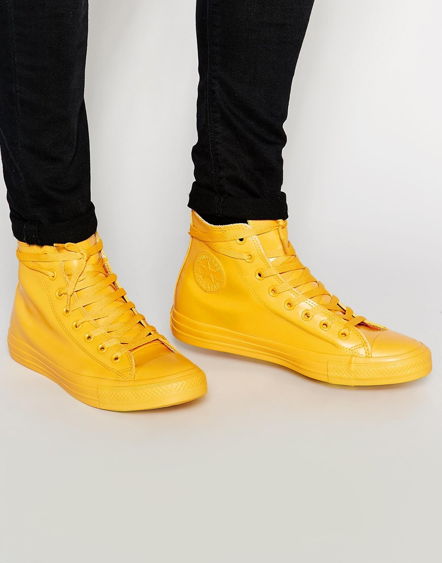 good selling running shoes cozy fresh Fashion Shop Converse All Star Rubber Hi-Tops - Yellow Fashion Shop
