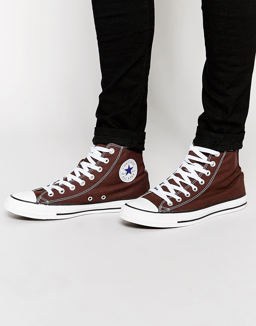 best prices new high clearance sale Fashion Shop Converse Chuck Taylor All Star Plimsolls - Brown ...
