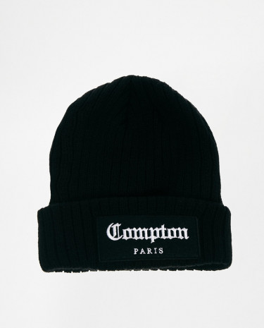 Fashion Shop - Criminal Damage Beanie Hat - Black