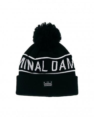 Fashion Shop - Criminal Damage Bobble Hat - Black
