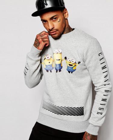 Fashion Shop - Criminal Damage X Minions Sweatshirt - Grey