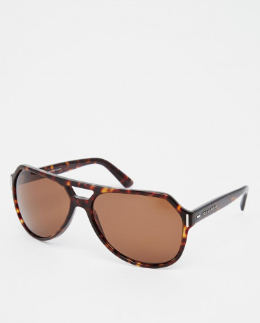 Fashion Shop - Dolce & Gabanna Aviator Sunglasses - Brown