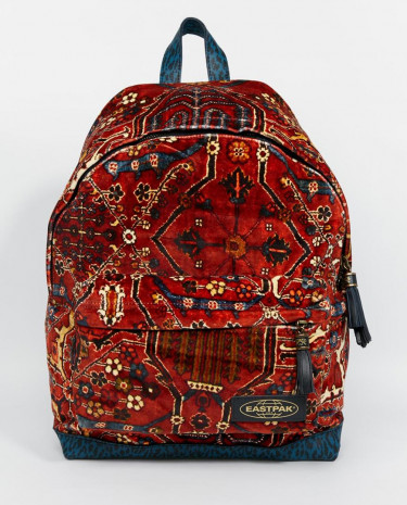 Fashion Shop - Eastpak x House of Hackney Limied Edition Velvet Backpack in Carpet Print - Meymeh