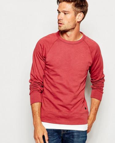 Fashion Shop - Esprit Sweatshirt with Raglan Sleeves - Burgundy