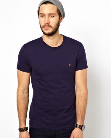 Fashion Shop - Farah T-Shirt with F Logo - Navy
