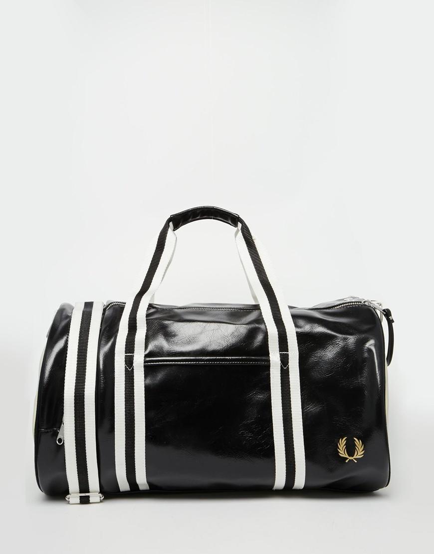 Fashion Shop - Fred Perry Classic Barrel Bag - Blackecru