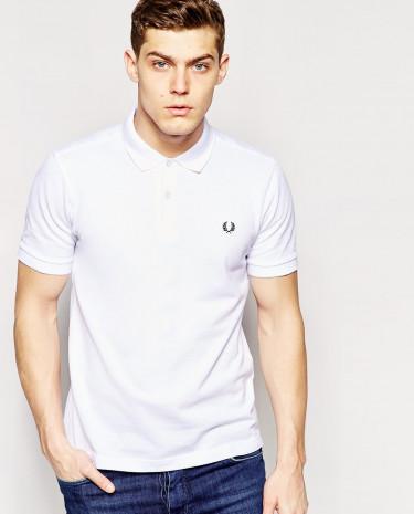 Fashion Shop - Fred Perry Slim Fit Plain Polo - White