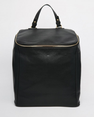 Fashion Shop - Glamorous Backpack with Zip Detail - Black