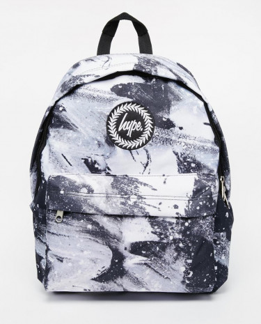 Fashion Shop - Hype Backpack in Monochrome Brush Stroke Print - Multi