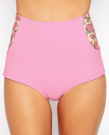 Fashion Shop - Lolli Strawberry Bikini Bottoms - Pink