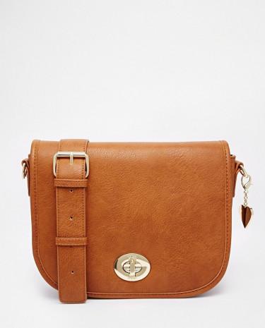 Fashion Shop - Marc B Saddle Bag - Tan1