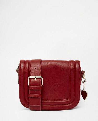 Fashion Shop - Marc B Saddle Bag in Red - Rust