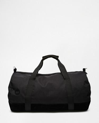 Fashion Shop - Mi-Pac Classic All Black Duffle Bag - Black