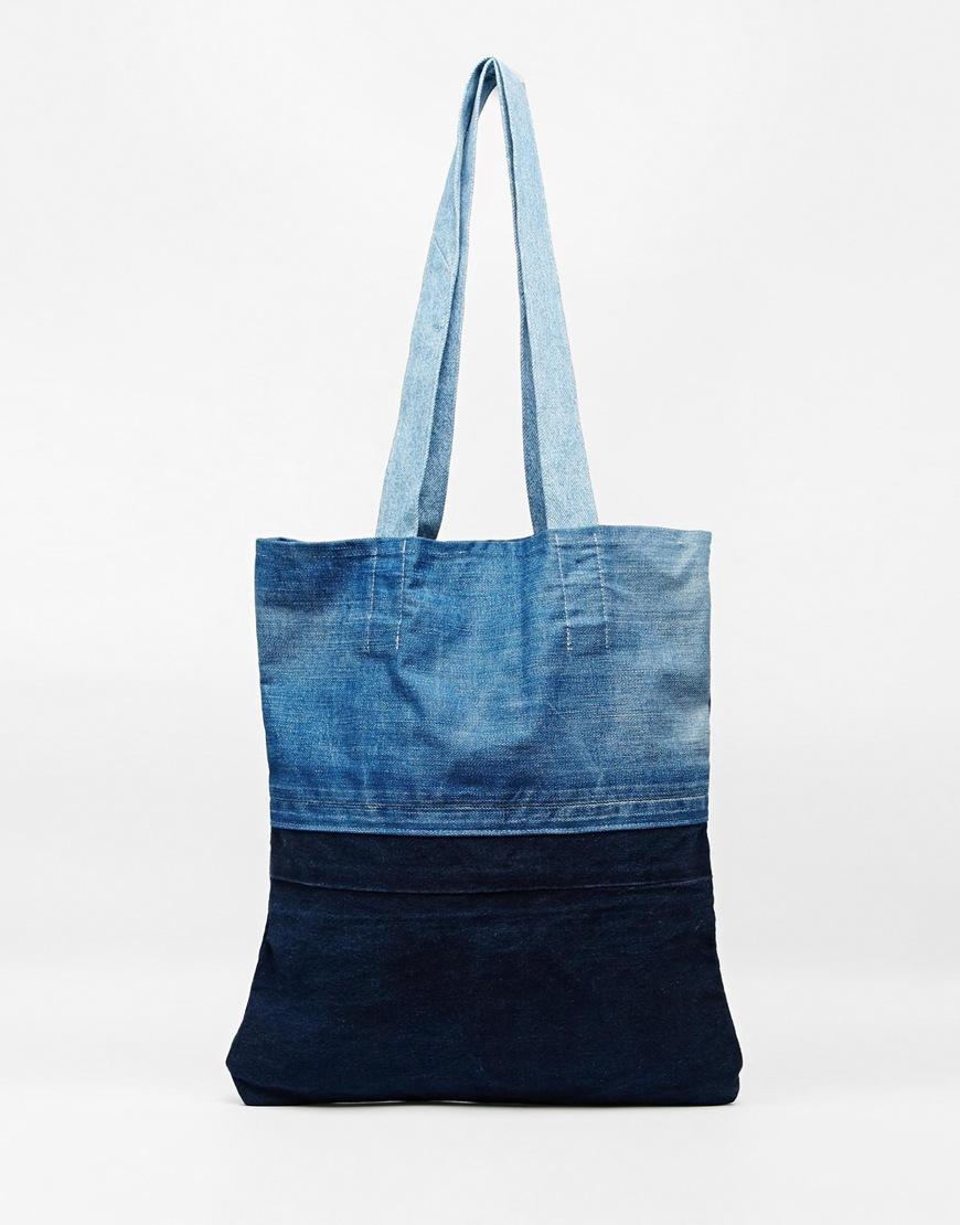 Fashion Shop - Milk It Denim Shopper Bag - Blue