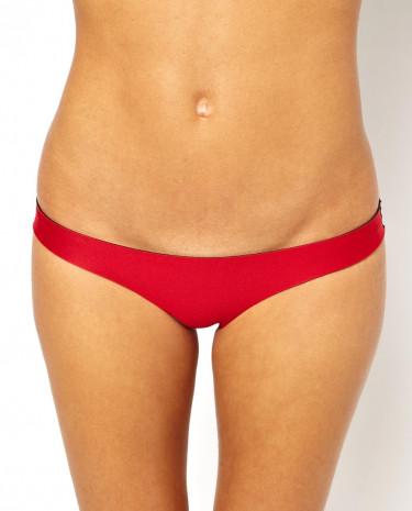 Fashion Shop - N.L.P Seam Cut Classic Hipster Bikini Bottom - Red