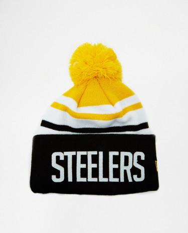 Fashion Shop - New Era Steelers Bobble Hat - Yellow