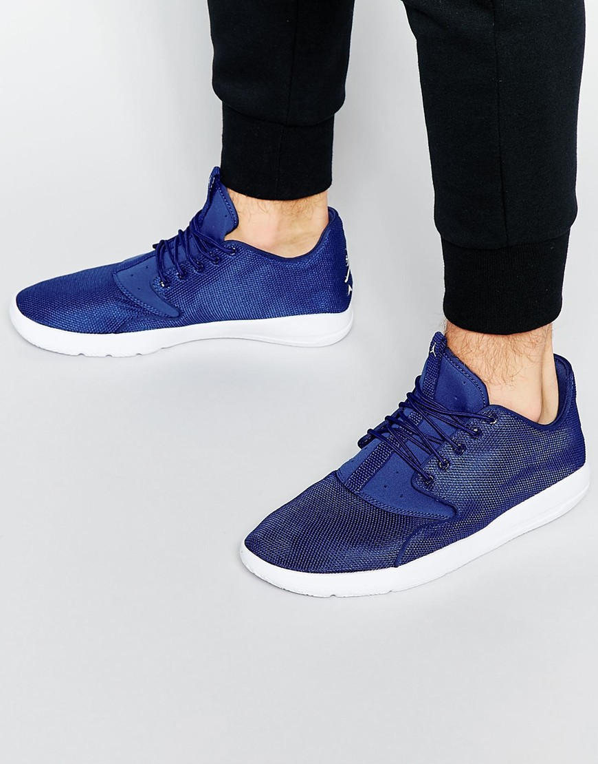 2a2d4c5a9e9 Nike Jordan Eclipse Trainers 724010-405 – Navy. AUD 182.00. Trainers by Nike  Textile upper Shaped and padded cuffs Pull tab to tongue Lace-up fastening  ...
