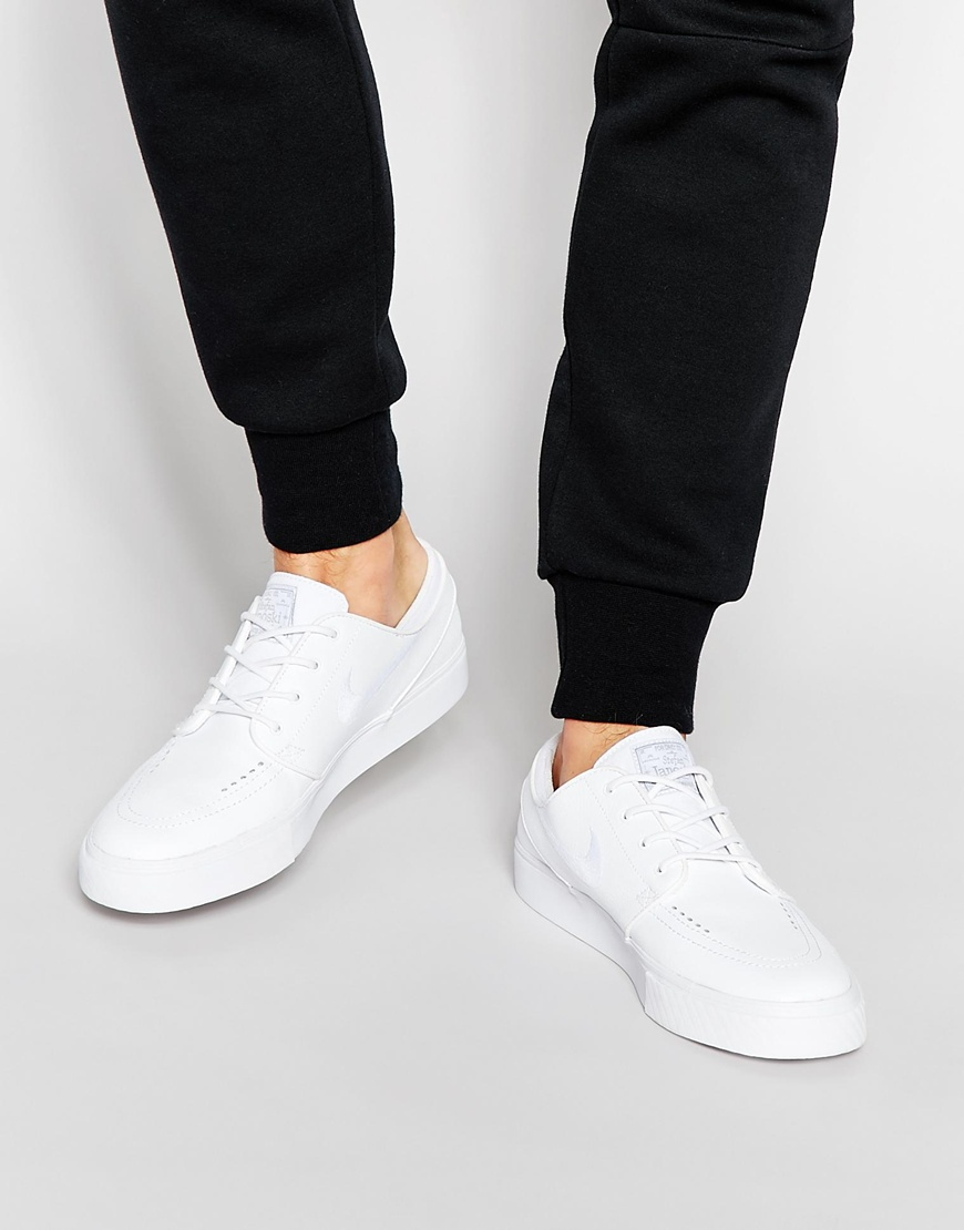 timeless design 334d0 9e47c Fashion Shop - Nike SB Stefan Janoski Leather 616490-110 - White