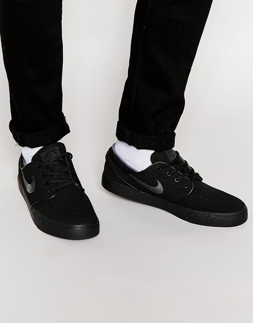 Fashion Shop - Nike SB Zoom Stefan Janoski Trainers 633014-022 - Tripleblack 349b68cd5241
